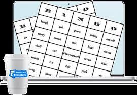 bingo card template create and print bingo card templates