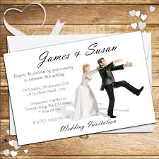 Church Anniversary Invitation Cards 10 Personalised Wedding Invitations Day Or Evening N40