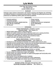 Most Updated Resume Format System Administrator Resume Includes A Snapshot Of The Skills Both