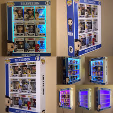 display case led lighting systems custom pop display case with led lights awesome toyz funko pops