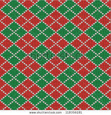 christmas pattern red green knitted red green christmas argyle background stock vector 118356181