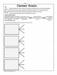 setting goalsworksheets