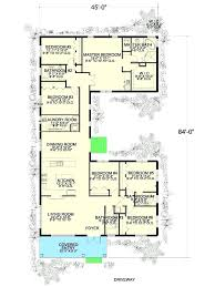 courtyard plans u shaped house plans with courtyard 6 bedroom u shaped house plan