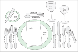 Fancy Place Setting Formal And Casual Place Setting Template Free Download