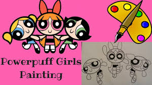 powerpuff girls speed paint ppg coloring book blossom buttercup