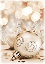 New Year Tree Decoration Toys by Christmas Tree Ornament Bauble Decoration Over Bokeh Abstract