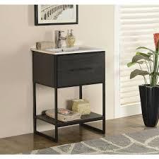 Furniture Sink Vanity Legion Furniture 24 Inch Espresso Finish Single Sink Vanity With