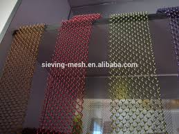 stainless steel chain link fence chain curtain heat resistant