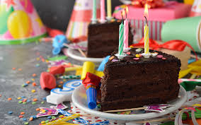picture birthday chocolate cakes piece food candles 1920x1200