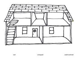 amazing coloring pages of houses kids coloring page empty house