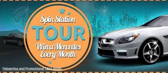 mercedes giveaway spinstation giveaway win a mercedes slc every month play