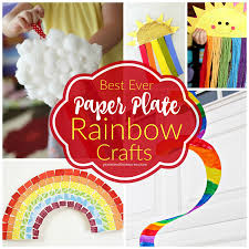 rainbow paper plate crafts pint sized treasures