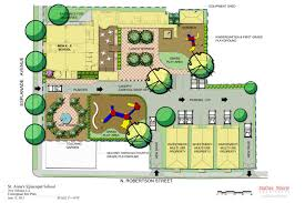 landscaping site plan botanic garden visitor center weiss