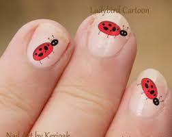 ladybugs nail art etsy