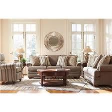 La Z Boy Living Room by La Z Boy Brennan Traditional Loveseat With Comfort Core Cushions