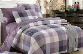 Romantic Comforters Romantic Quality Purple Plaid 100 Cotton Teen Bedding Sets