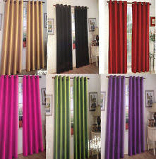 Grommet Curtains 63 Length Faux Silk Curtains Ebay
