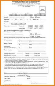 7 visiting visa application form artist resume