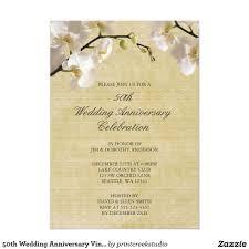 50th wedding anniversary vintage white orchid card wedding