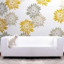 Floral Wall Stencils For Bedrooms Summer Blossom Flower Stencil Floral Designs For Walls