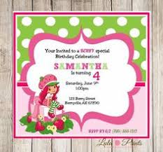 printable birthday invitations strawberry shortcake free strawberry shortcake birthday party printable invitation