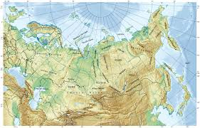 Germany Physical Map by Large Physical Map Of Russia Russia Large Physical Map Vidiani