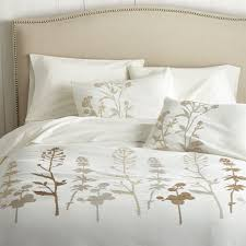 woodland duvet covers and pillow shams crate and barrel