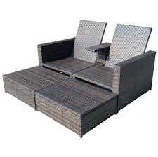 Double Chaise Sofa Lounge by Chaise Furniture Solid Wicker Double Chaise Lounge With Console