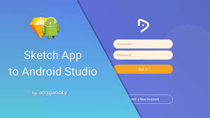 create login page for tablet using sketch app and android studio