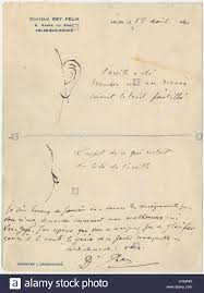drawing of the mutilation of vincent van gogh u0027s ear stock photo