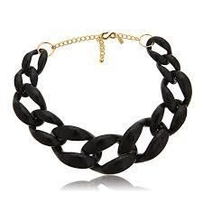 black link necklace images Kenneth jay lane black link necklace hauteheadquarters jpg