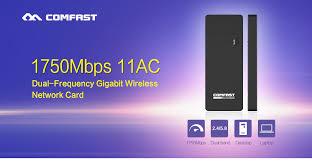 Usb Wifi Adapter For Faster Wifi Usb Wifi 1750mbps Comfast Cf 917ac Mini Usb Wi Fi Adapter Dual Band 802 11ac