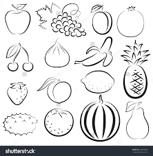 fruit outlines 100 images strawberry clipart image coloring