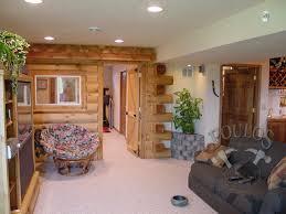 Basement Finished Pretentious Design Rustic Finished Basement Ideas Top Basements