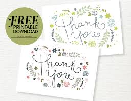 free thank you cards free printable thank you card she free
