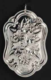 silver flowers towle silver flowers of christmas medallion at replacements ltd