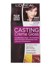 rich cherry hair colour l oreal paris casting creme gloss cherry black 360 c