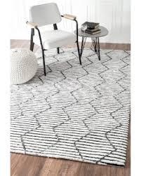 Trellis 8 Spectacular Deal On Nuloom Handmade Moroccan Trellis Striped White