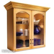 wood and glass cabinet convert wood cabinet doors to glass family handyman