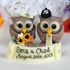 owl wedding cake topper football sport owl bird wedding cake toppers