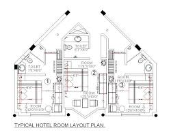 hotel floor plan dwg cad drawing of a hotel room design layout cadblocksfree cad