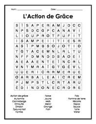 thanksgiving word search mots cachés français sur l