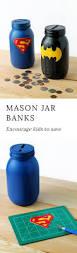 35 Halloween Mason Jars Craft Ideas For Using Mason Jars For by Mason Jar Superhero Bank