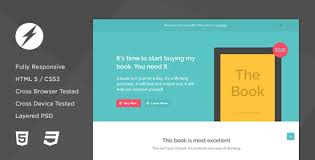 thebook app ebook html5 css3 landing page by voltronthemes