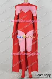 Captain Marvel Halloween Costume Men Scarlet Witch Wanda Maximoff Comics Cosplay Costume Jumpsuit