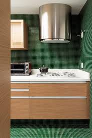apartments green tile backsplash in beautiful contemporary green green tile backsplash in beautiful contemporary green kitchen design with white countertop and modern cylinder stove hoods above cooktop also green tile