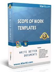 scope of work template ms word u0026 excel