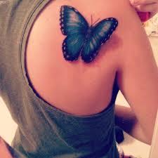 back shoulder amazing blue monarch butterfly golfian com