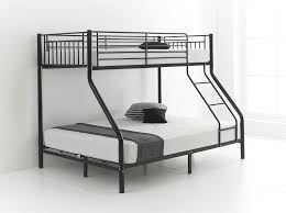 TRIO SLEEPER METAL BUNK BED WITH MATTRESS AND DOUBLE BOTTOM SINGLE - Double top bunk bed