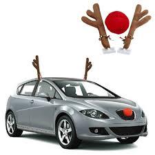 reindeer antlers for car car reindeer antlers rudolph nose christmas festive